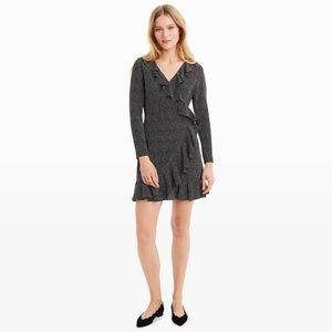 Club Monaco Black Polka Dot Wrap Dress
